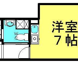 セパレートのお部屋です。(間取)