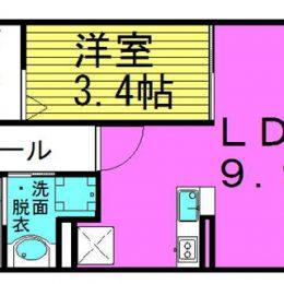1LDK 03号 39.31㎡(間取)