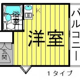 13.5㎡ 1号タイプ(間取)