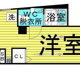 1R・02号・21.56㎡(間取)