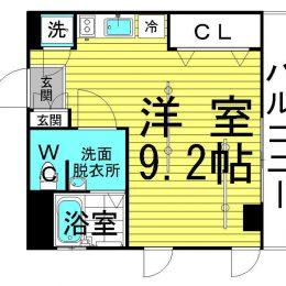 1R・01号・23.26㎡(間取)