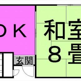 1DK・26.19㎡(間取)