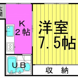 22.78㎡ キッチンスペースも有り★(間取)