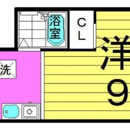 1K・1号・25.26㎡(間取)