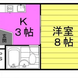 23.78㎡ キッチンも広め(間取)