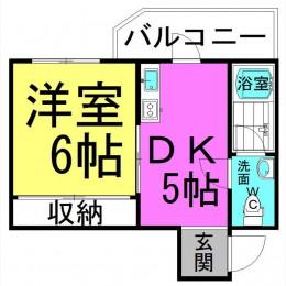 1DK・02号・25.2㎡(間取)