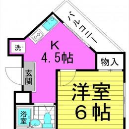 1DK・17㎡(間取)