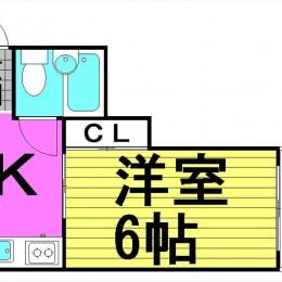 1K・18㎡・洋室タイプ(間取)