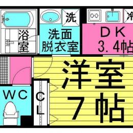 1DK・Aタイプ・30.15㎡(間取)