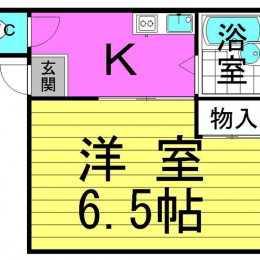 1K・3号タイプ・19.39㎡(間取)