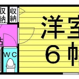 1K・1号(2号反転)・16.92㎡(間取)