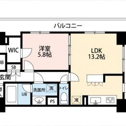 1LDK・48.55㎡(間取)
