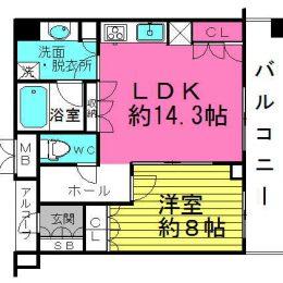 1LDK・45.05㎡(間取)