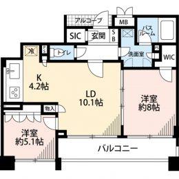 2LDK・62.8㎡(間取)