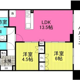 2LDK/ 57.44㎡(間取)